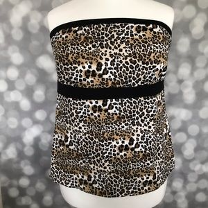 Lane Bryant Leopard Pint Tube Top